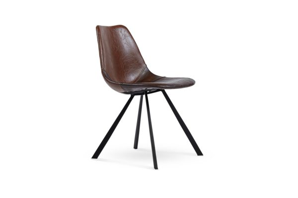 New Concept Dining Chair Dark Brown/Tan