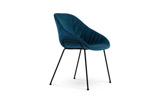 Zac Dining Chair Dark Blue