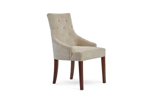 Zara Dining Chair Zepel Cushion Whisper with Havana legs