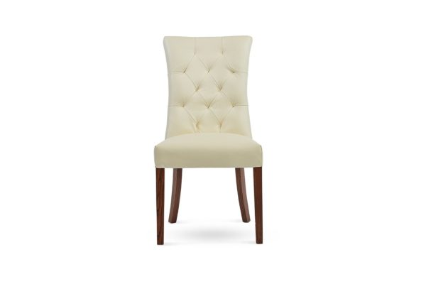 Zara Straight Back Dining Chair Off White