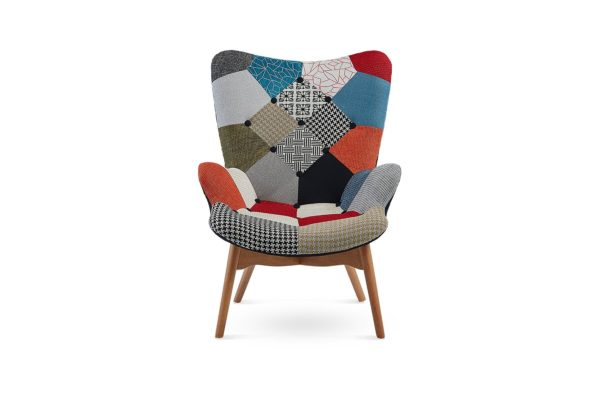 Cindy Occasional Chair and Footstool Patchwork
