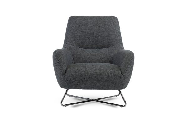 Accent Occasional Chair Charcoal Grey