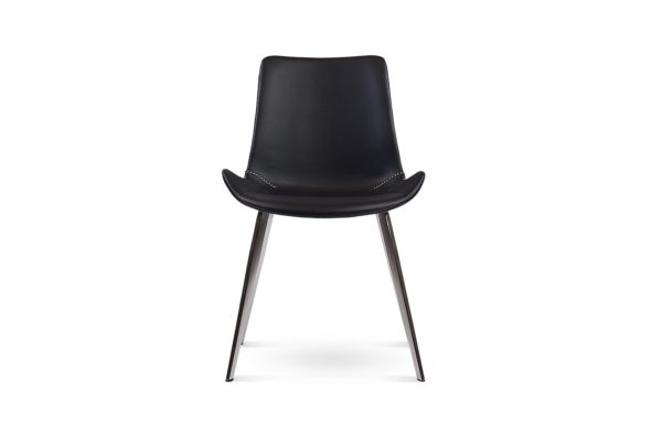 Dover Dining Chair Black Stainless Steel