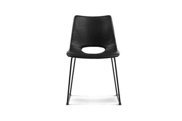 Sled Dining Chair Black