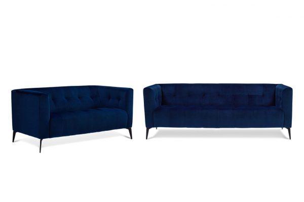 Aria Velvet 2 & 3 Seat Lounge Set