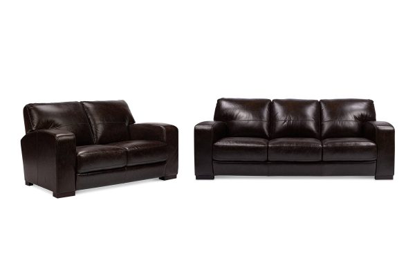 Dakota 3+2 Seat Leather Lounge Set