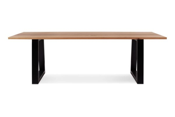 Byron Dining Table with Black Legs