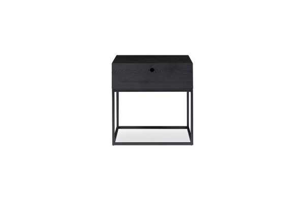 Globe Bedside Table Black Elm