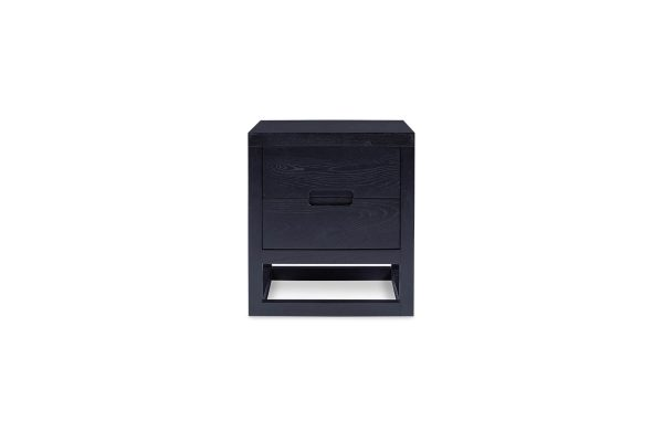 Cube Bedside Table Matt Black