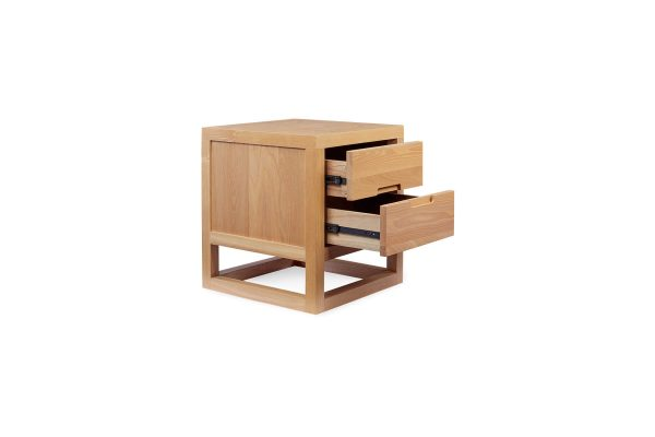 Cube Bedside Table Natural