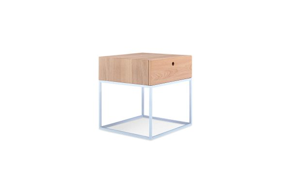 Globe Bedside Table Natural Elm