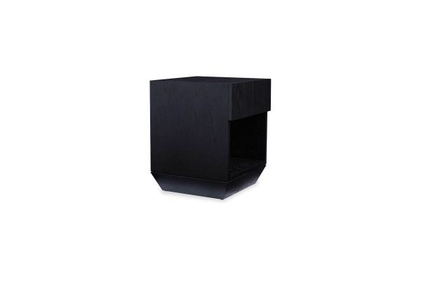 Roma Bedside Table Matte Black