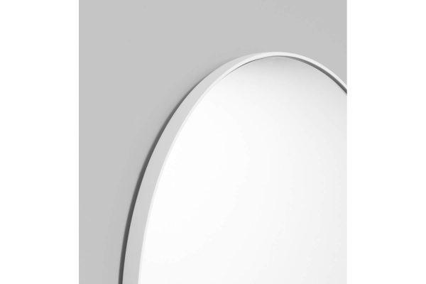 Bjorn Round Mirror White