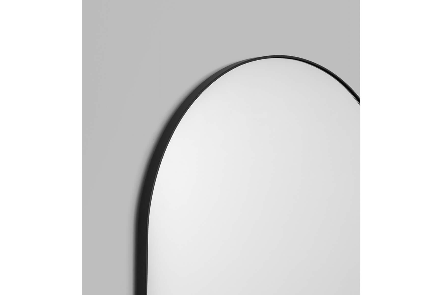 Bjorn Arch Floor Mirror Black Catalano Interiors