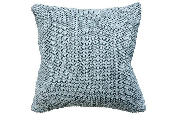 Milford Moss Stitch Duck Egg Cushion
