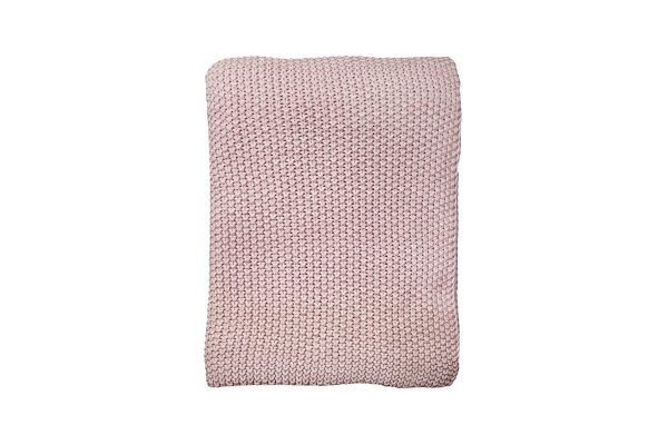 Milford Moss Stitch Dusky Pink Throw
