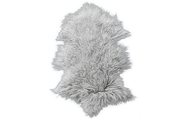 Meru Tibetan Lamb Silver Grey Hide