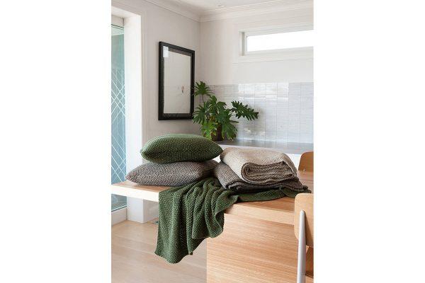 Milford Moss Stitch Spruce Cushion