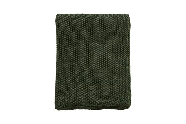Milford Moss Stitch Spruce Throw