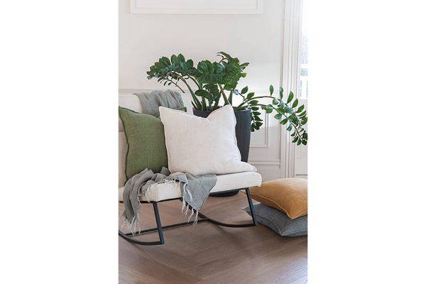 Flaxmill Charcoal Cushion