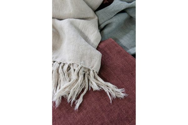 Indira Red Clay Throw