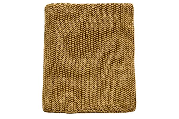Milford Moss Stitch Harvest Gold Throw