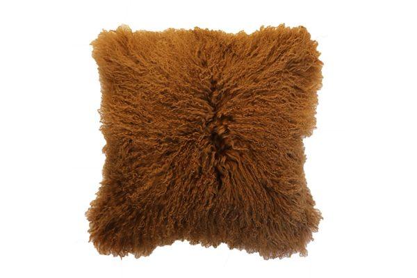 Meru Tibetan Lamb Cassia Bark Cushion
