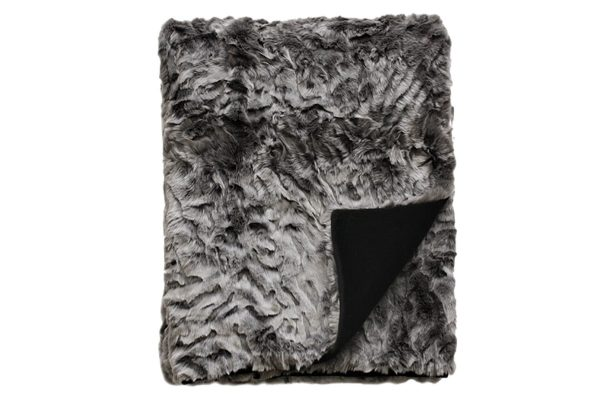 Heirloom Pewter Chinchilla Throw