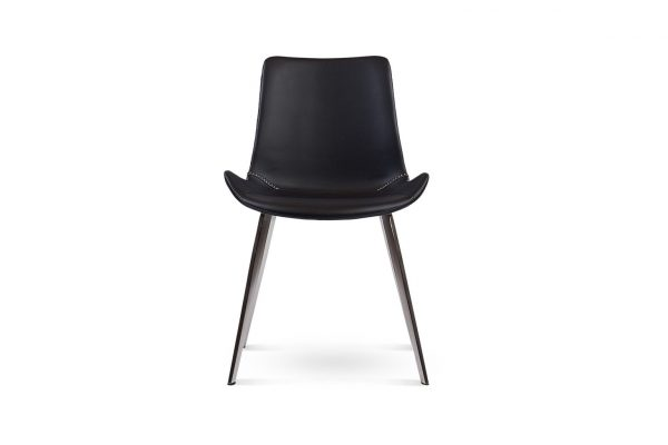 Dover Dining Chair Set Black Stainless Steel