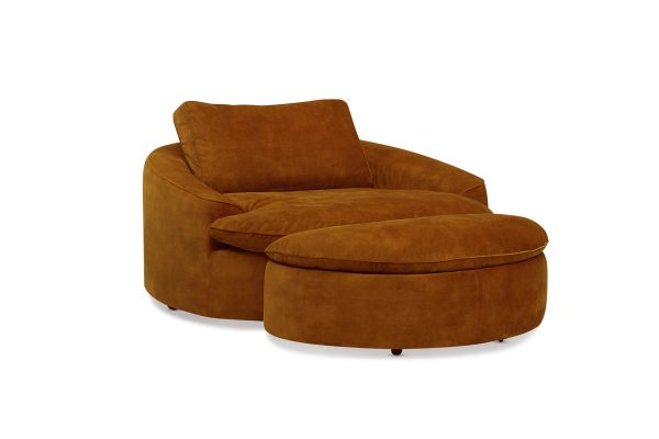 Vermont Lounge Chair and Ottoman Set