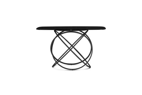 Tokyo Sofa Table Black Glass