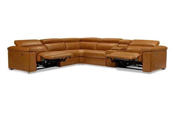 Austin Leather Modular Recliner Lounge